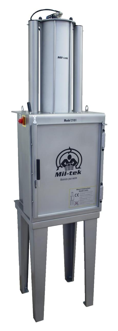 Mil-tek 2101S Stainless Steel Pneumatic Can Crusher